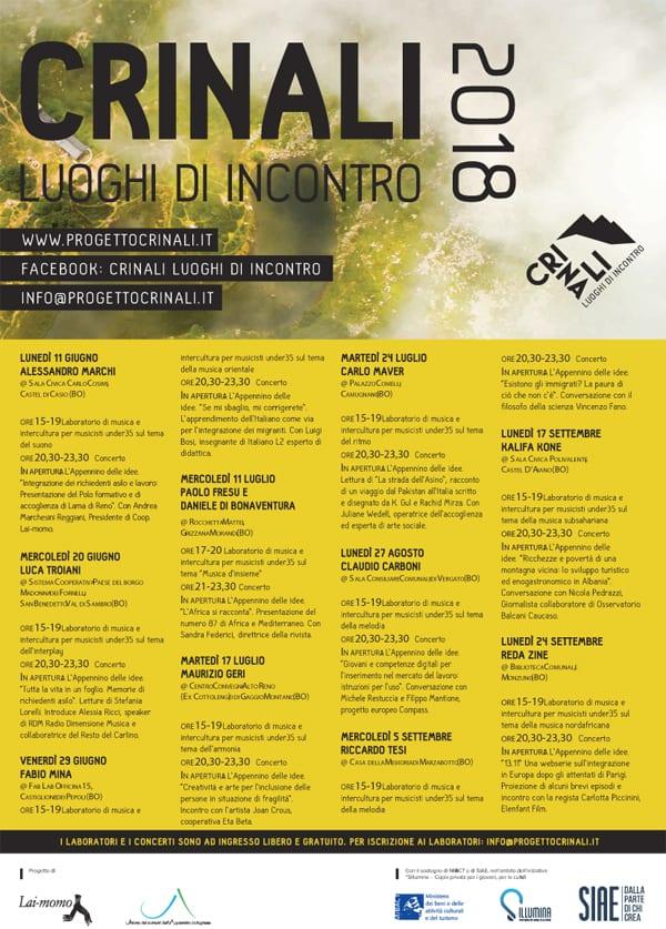 A4 Programma Crinali completo Festival Bologna 2018