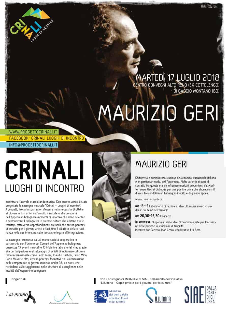Maurizio Geri Progetto Crinali Bologna