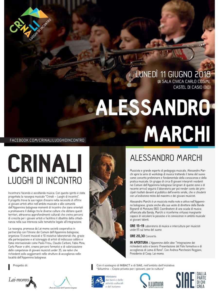 Alessandro Marchi Crinali Concerti e Workshop Bologna 2018